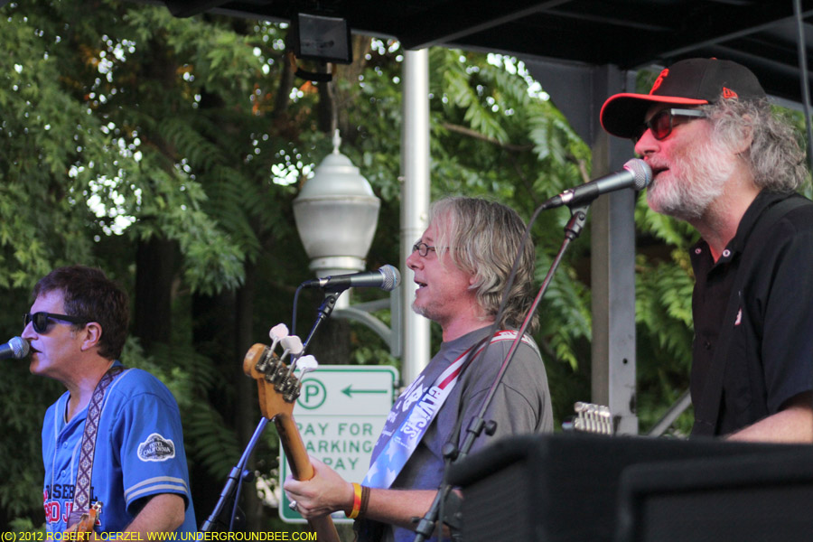 Steve Wynn, Mike Mills and Scott McCaughey of the Baseball Project