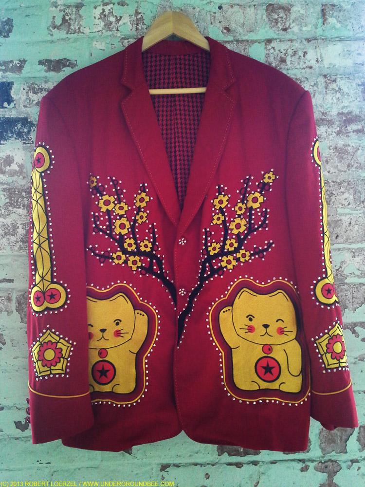 """A Nudie jacket on display in the """"Jeff Tweedy's Loft"""" exhibit at MASS MoCa"""