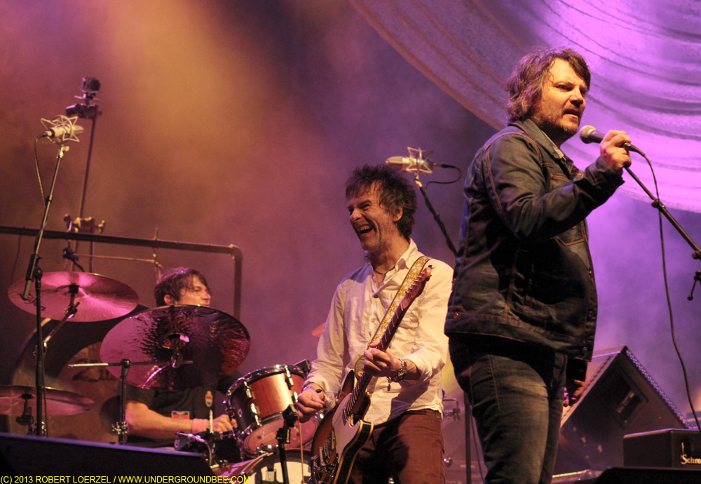 Tommy Stinson and Jeff Tweedy, during the June 21 Wilco concert