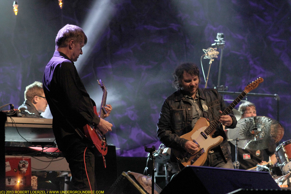Mikael Jorgensen, Nels Cline, Jeff Tweedy and  Glenn Kotche, during the June 21 Wilco concert