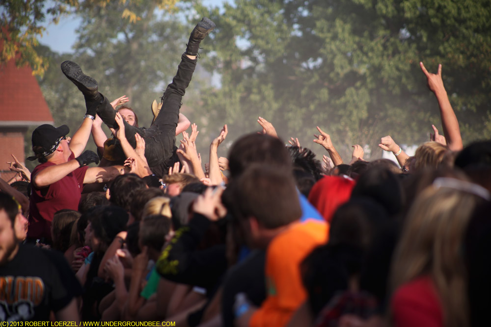 Crowd-surfing during Flag's set.