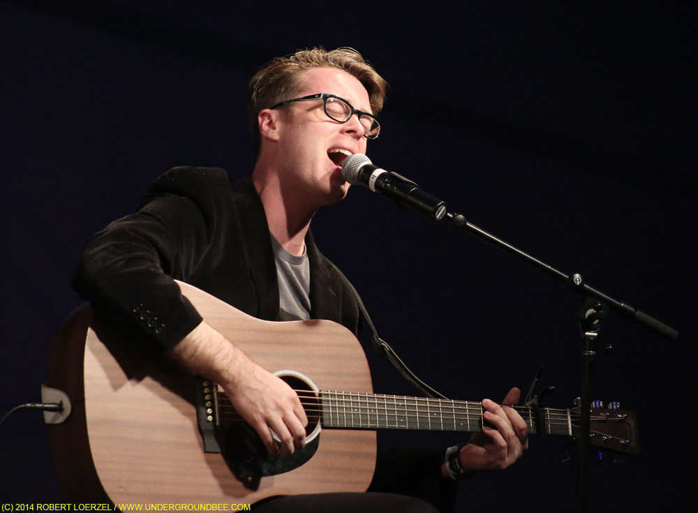 """Jeremy Messersmith at the """"Warehouse: Songs and Stories"""" songwriting panel"""
