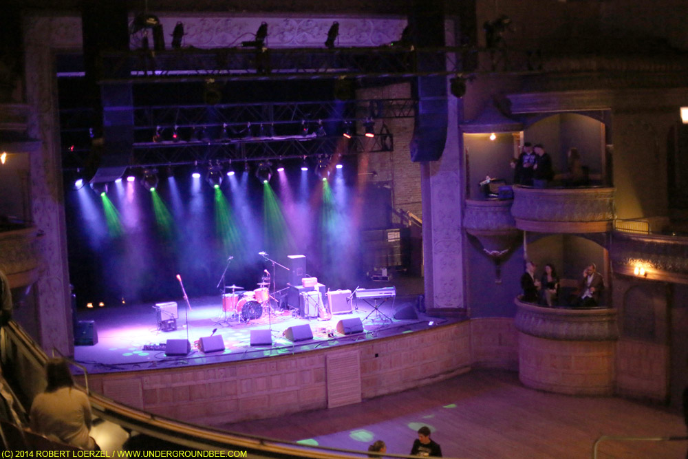 A view from Thalia Hall's balcony before the concert.