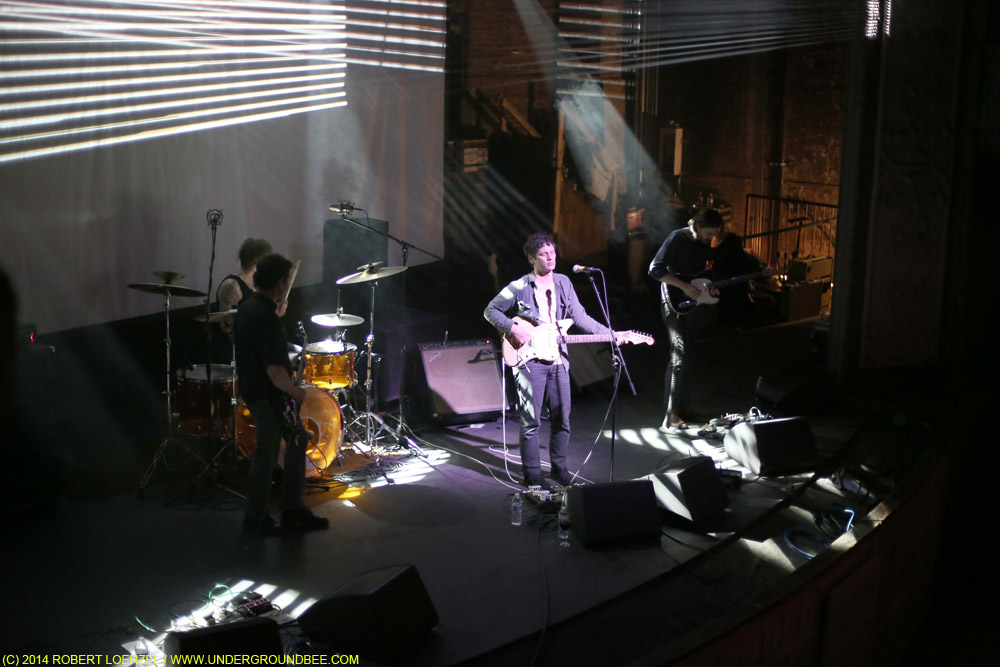 A view from the balcony of Disappears performing at Thalia Hall.