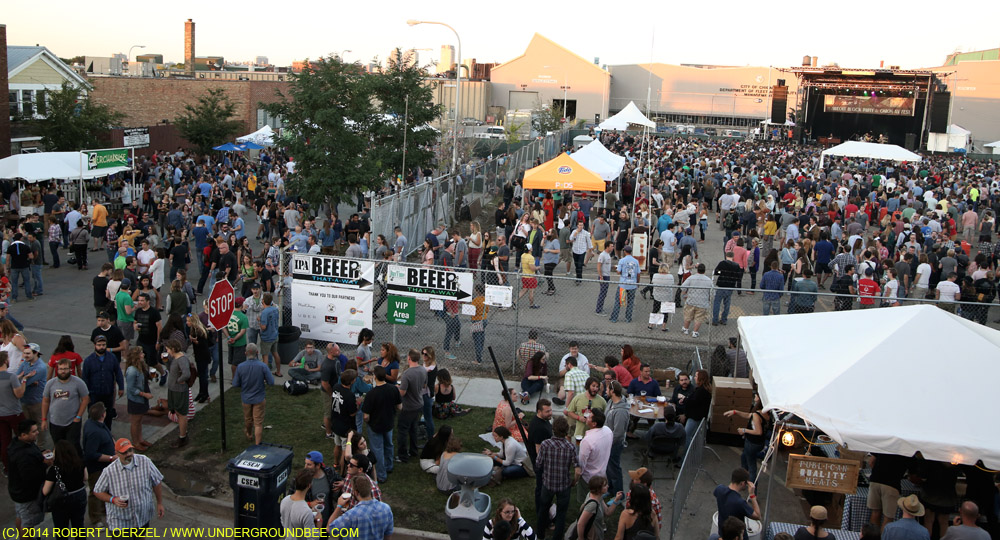 The Hideout Block Party/AV Fest during the Funky Meters' set