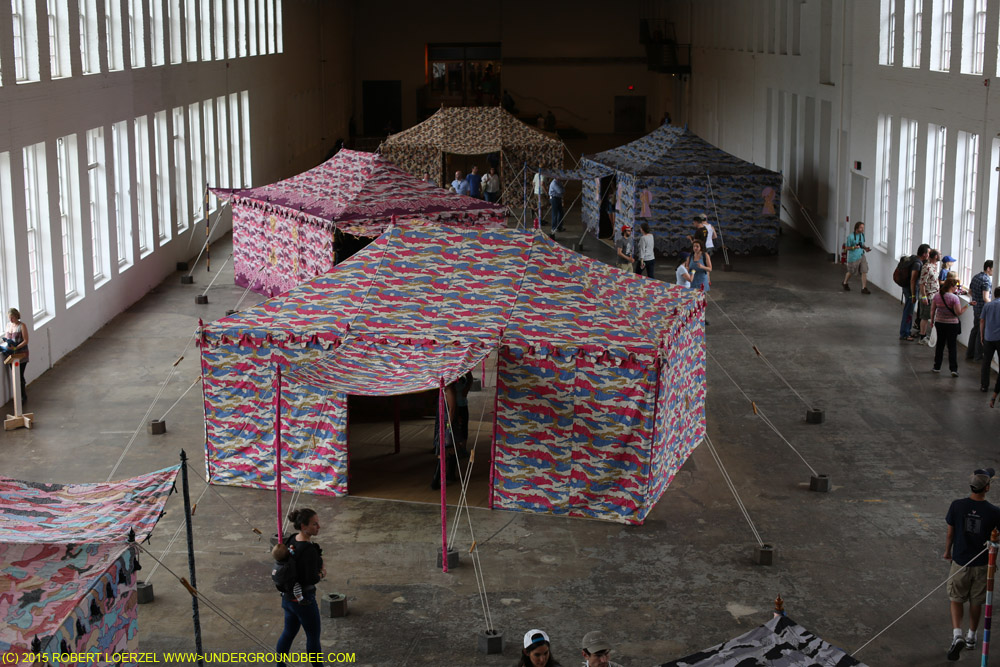 Francesco Clemente's Encampment installation