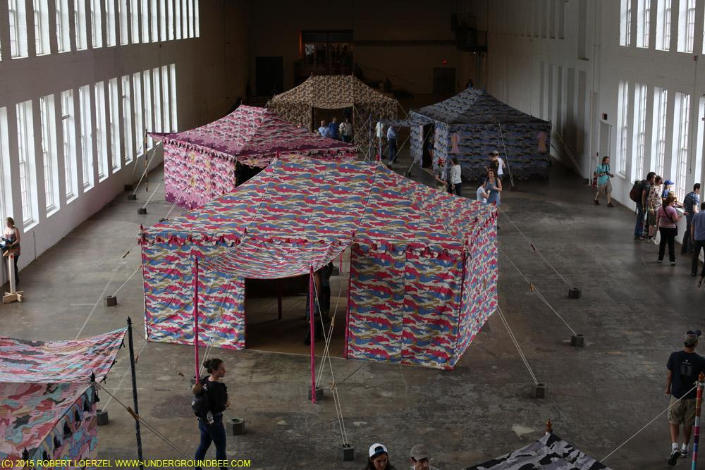 Francesco Clemente's Encampment installation