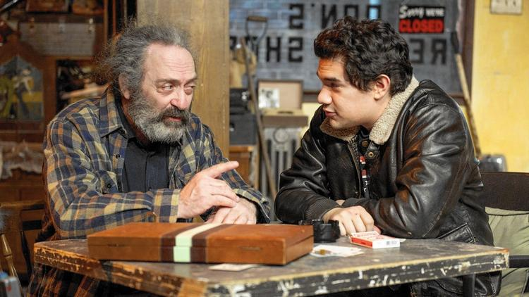 Richard Cotovsky, left, and Rudy Galvan star in American Buffalo for Mary-Arrchie Theatre. Photo by Michael Brosilow.