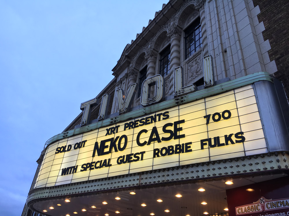 Neko Case and Robbie Fulks at the Tivoli Theatre