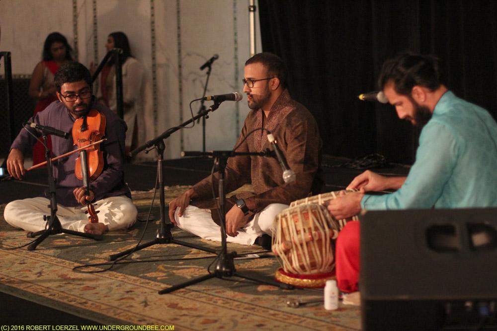 Aditya Prakash (vocals) Salar Nader (tabla) with Shiva Ramamurthi (violin)