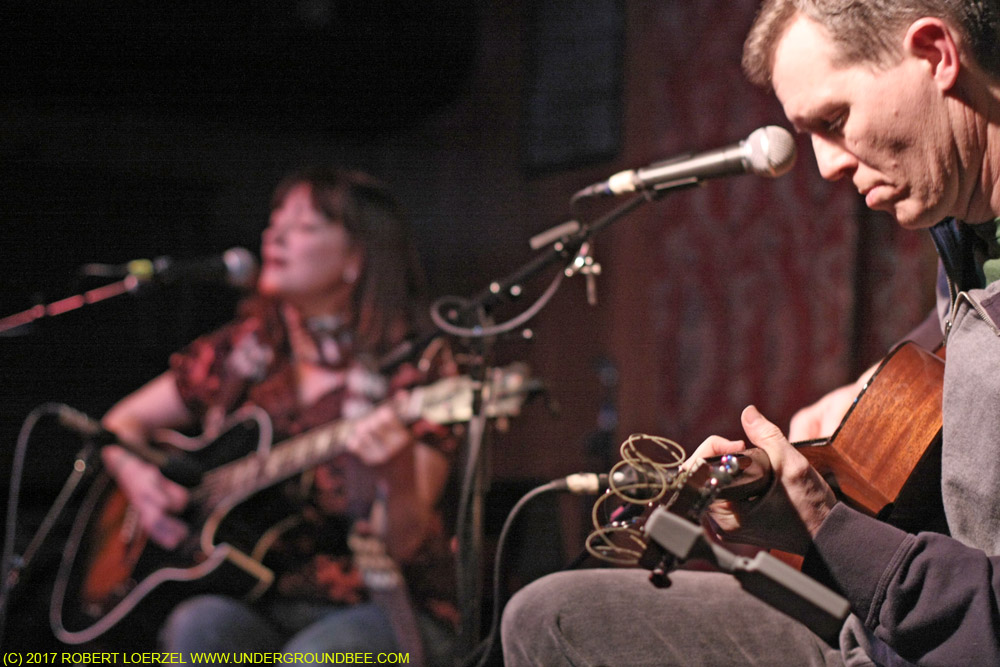 Robbie Fulks performs with Nora O'Connor during the second show of his Hideout residency, on February 8, 2010.
