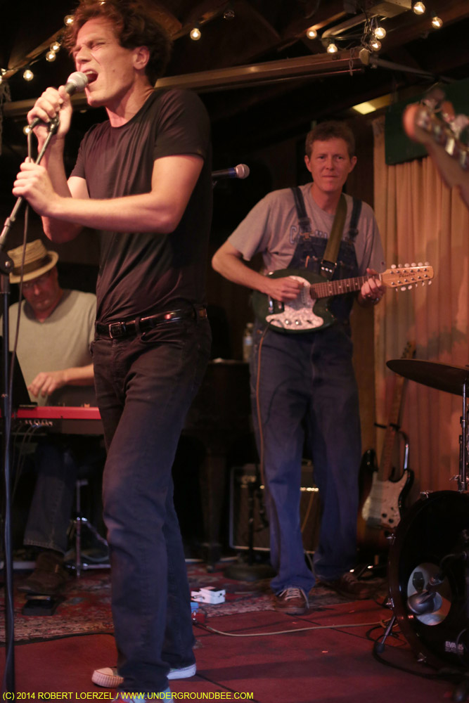 Fulks plays guitar as Michael Shannon sings the Lou Reed album The Blue Mask on July 21, 2014.